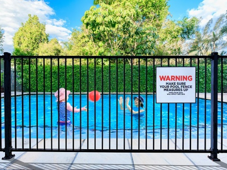 Pool Fence Sign